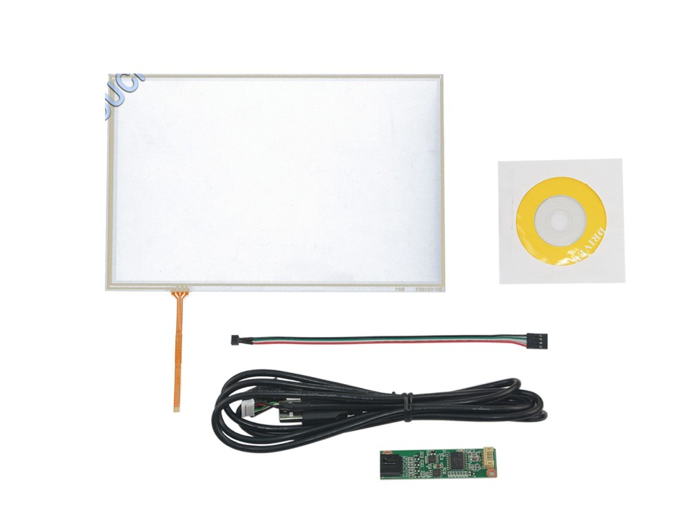 10.1 4 Wire Resistive Touch Panel USB Controller Kit For B101EVN07.0 LED Screen Screen touch panel Glass Free shipping