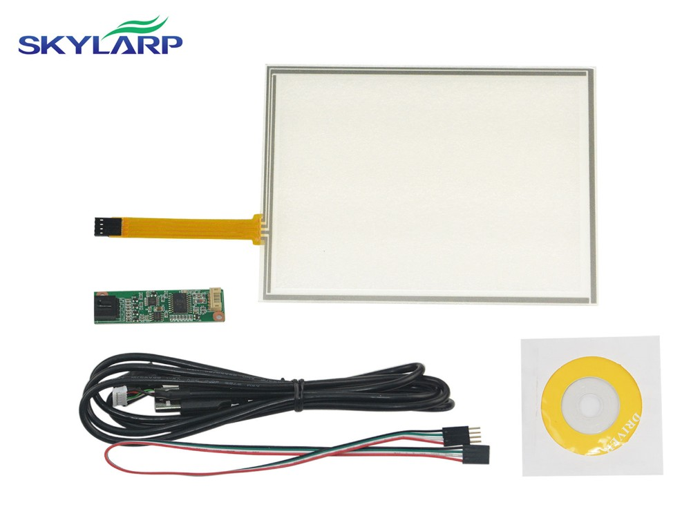 8inch 4 Wire Resistive Touch Screen Panel USB Controller Kit For EJ080NA-05B LCD Screen touch panel Glass Free shipping