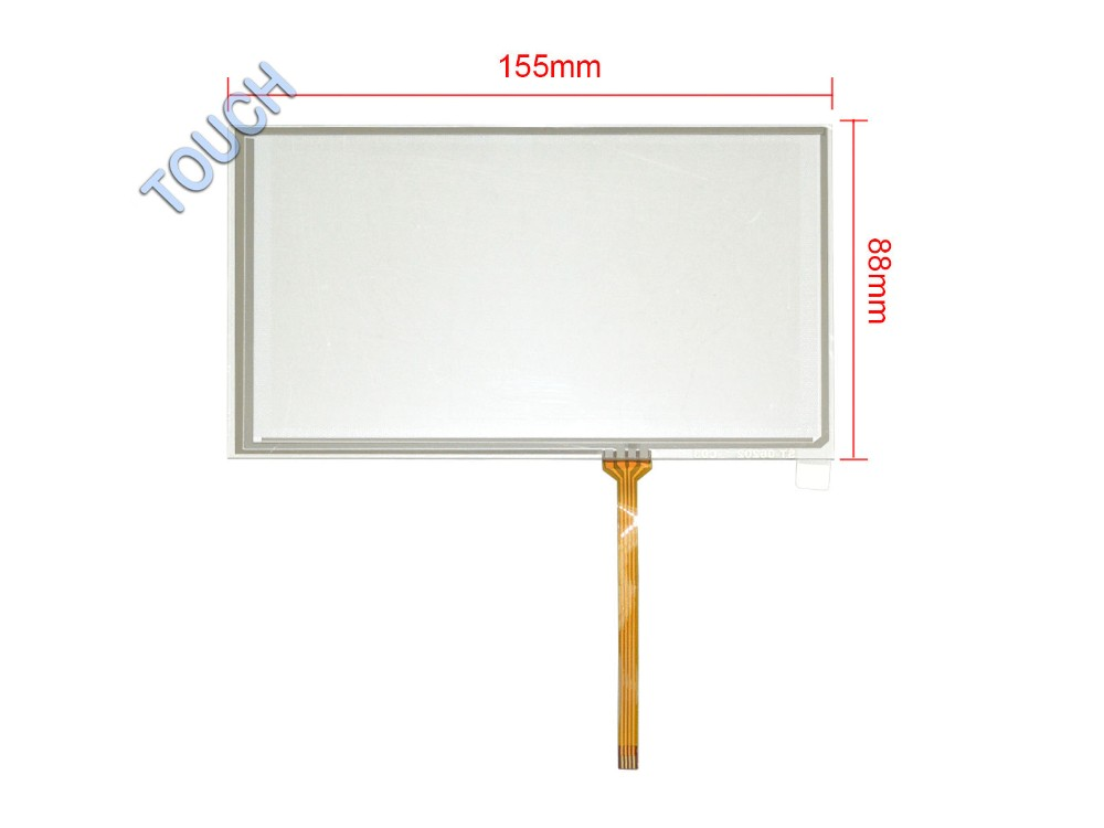 6.2 4 Wire Resistive Touch Screen Panel Digitizer for HSD062IDW1 TM062RDH01 155mm x 88mm Screen touch panel Glass Free shipping