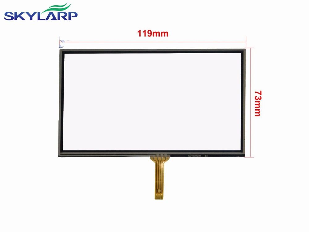 5inch 4 Wire Touch Screen Glass Panel Digitizer 119x73mm For HSD050IDW1 AT050TN33 Screen touch panel Glass Free shipping