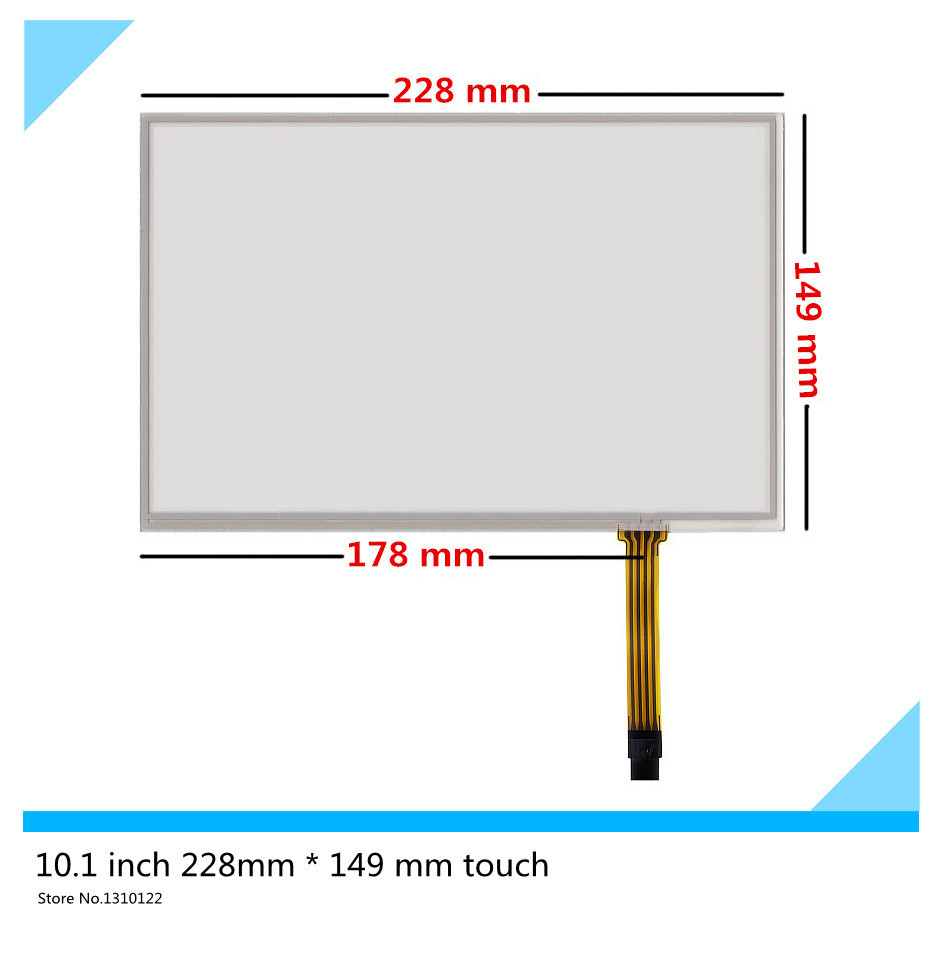 10.1 inch 4 wire Touch Screen 228mm*149 mm touch panel Glass Resistive Digitizer panel glass Free shipping