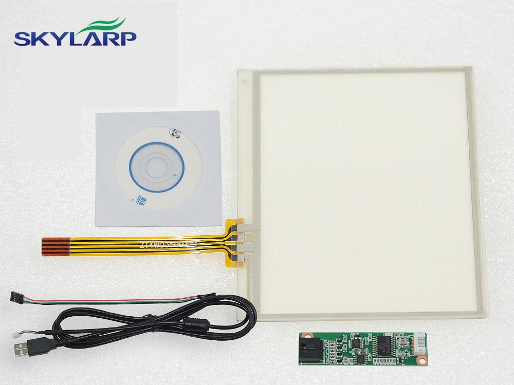 3.5 4 Wire Resistive Touch Screen Panel USB Controller for Replacement 77x64mm Screen touch panel Glass Free shipping