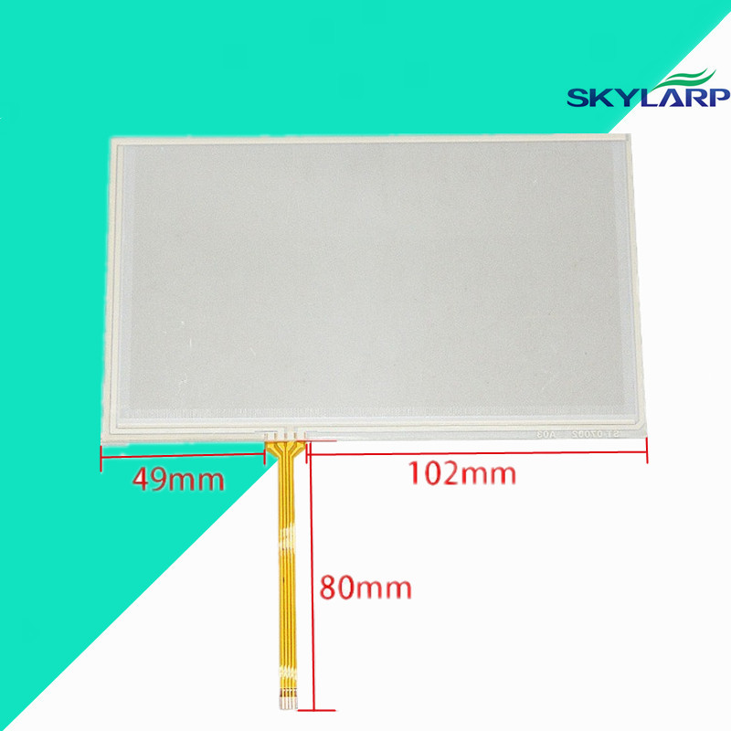 7 inch 4 Wire Resistive Touch Screen Panel Digitizer for GPS AT070TN90 164x99mm Screen touch panel Glass Free shipping