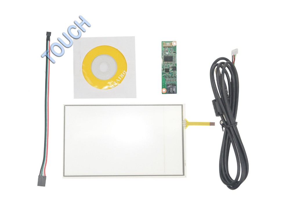 7 Inch 4 Wire Universal Touch Screen GPS AA297A 165x100mm With USB Controller kit Screen touch panel Glass Free shipping