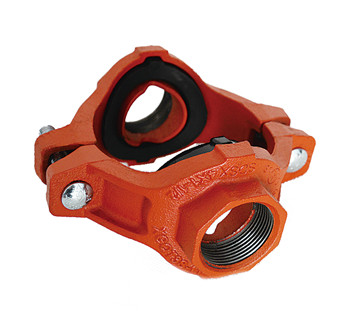FM UL approved ductile iron grooved mechanical cross tee for fire protection grooved fittings