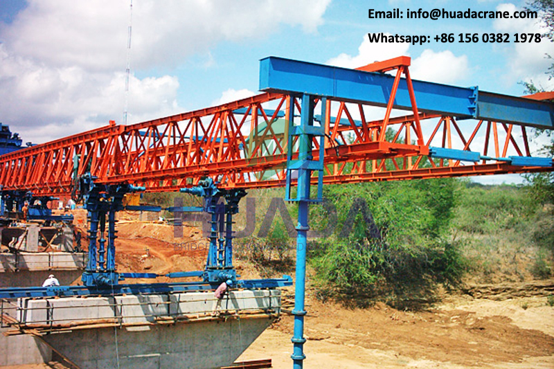 Top quality steel truss type 180T cable stayed bridge launcher