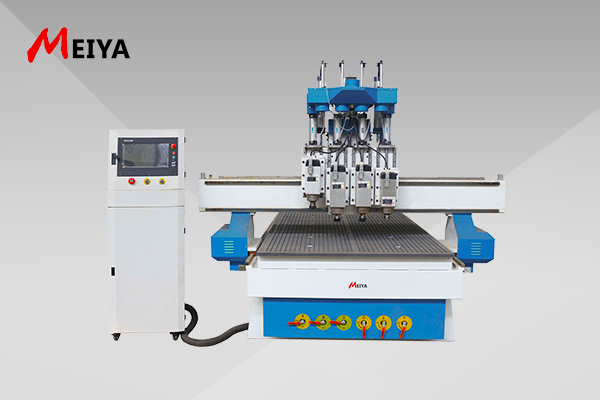 Multi heads 3d wood cnc machine 1325 for door cabinet