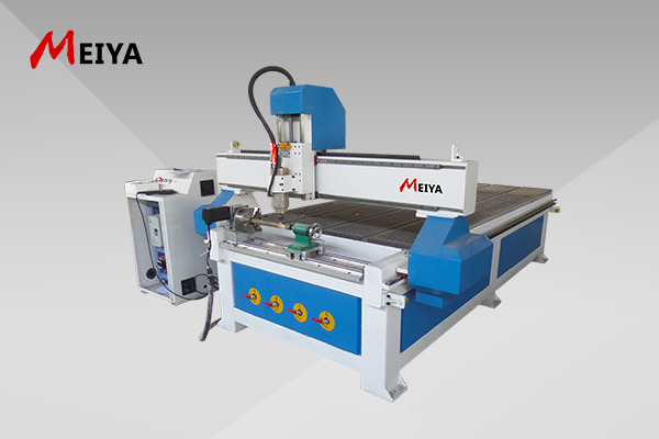 Jinan Meiya 3d relief carving cnc machine 4 axis CNC Router for woodworking