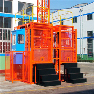 High Efficiency Double-cage Construction Elevator SC200/200 on Sale