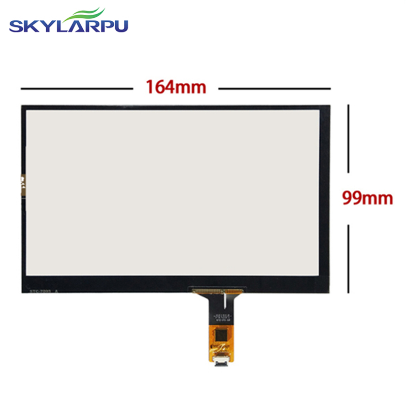 164mm*99mm Capacitive touch panel Glass External screen of touch screen 164mmx99mm Handwritten screen Free shipping