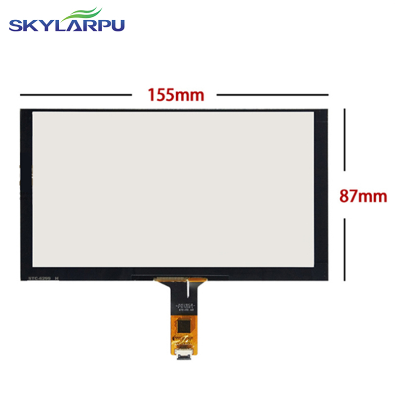 155mm*87mm Capacitive touch panel Glass External screen of touch screen 155mmx87mm Handwritten screen Free shipping