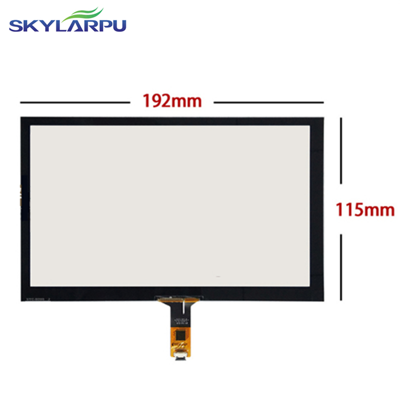 192mm*115mm Capacitive touch panel Glass External screen of touch screen 192mmx115mm Handwritten screen Free shipping