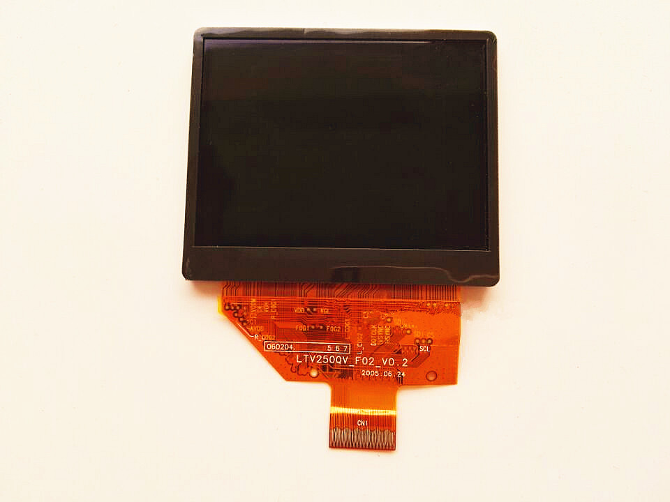 2.5 inch LTV250QV_F02_V0.2 LCD display screen for ZEN Vision: M 30gb/60GB LCD display screen panel Free shipping