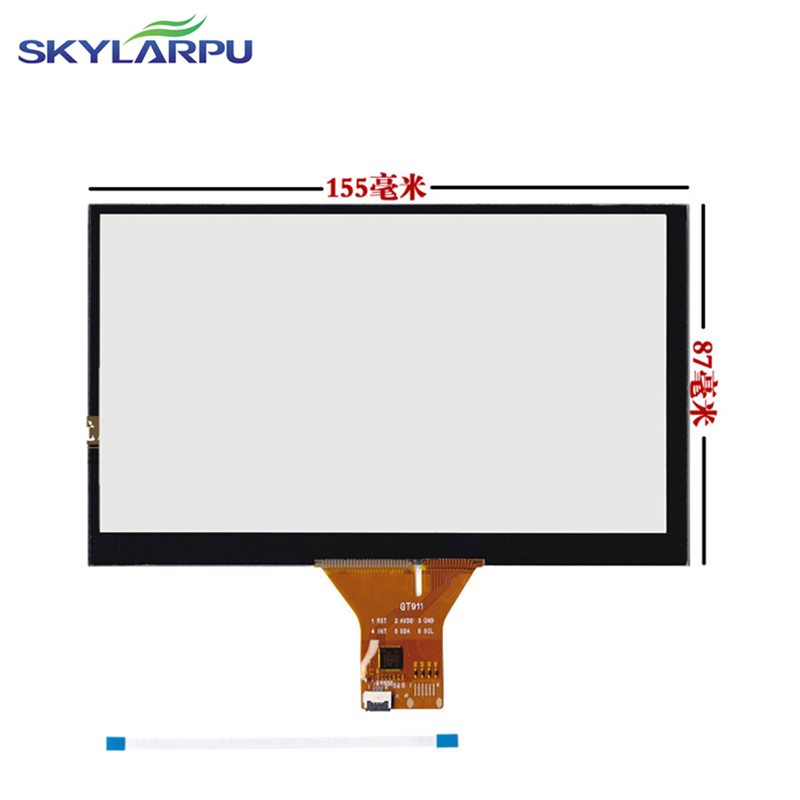 155mm*87mm Touch screen Capacitive touch panel Car hand-written screen Android capacitive screen development 155mmx87mm