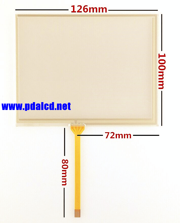 5.6-inch 126*100mm Touch screen panels for AT056TN52 V.3 industrial Touch panel Digitizer Glass Replacement Free shipping