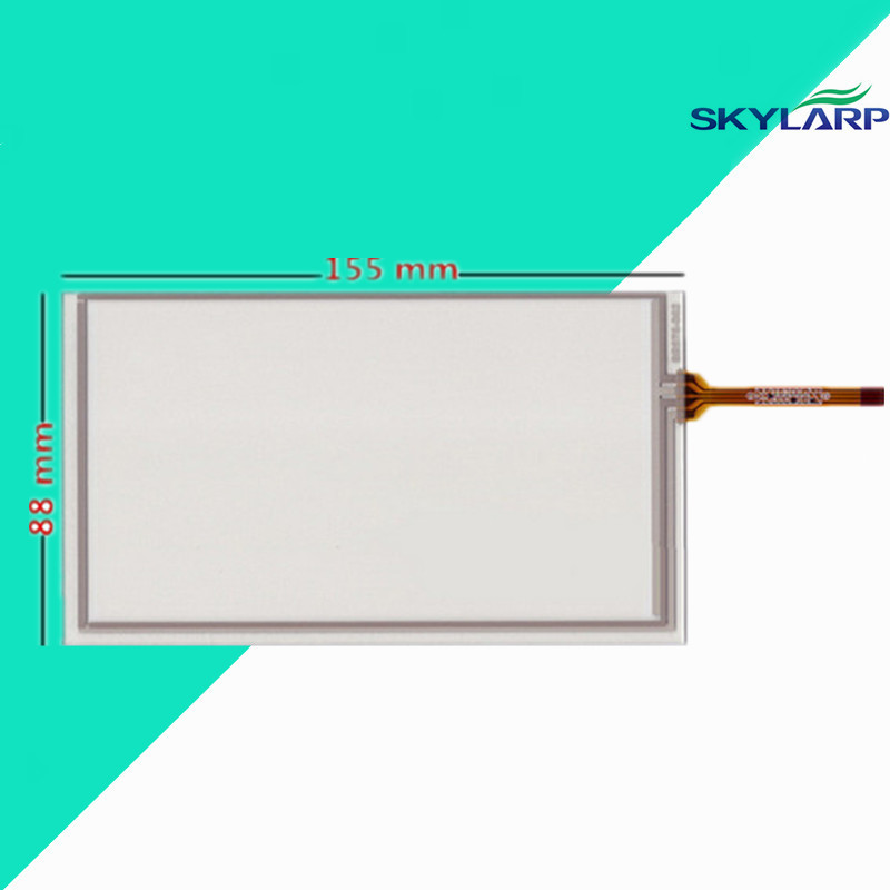 original New 6.2 inch touch panel 155mm*88mm digitizer For Car navigation DVD touch screen Glass Free shipping