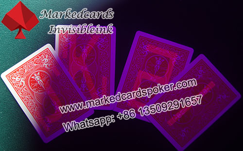Marked Bicycle playing cards/invisible ink contact lenses/ GS marked cards supplier
