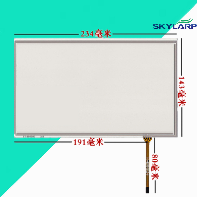 10.1 inch 234mm*143mm 4 wire resistive screen touch screen panel Industrial computer screen handwriting Digitizer Glass sensor