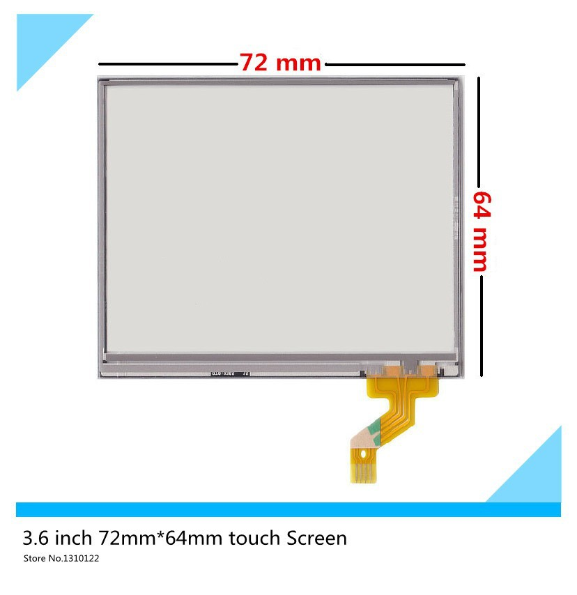 3.5''inch Touch panel 4 wire 72mm*64mm Resistive Touch Screen Digitizer for Innolux PT035TN01 v.6 touch Glass