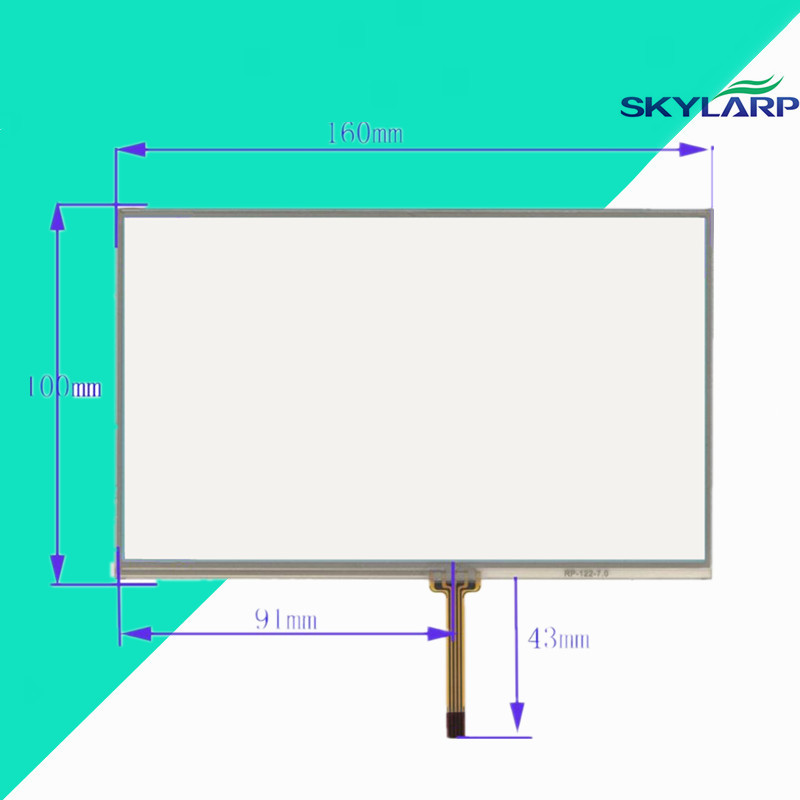 touchscreen 160*100mm 160mm*100mm KR070PC5S touch digitizer glass panel Free shipping