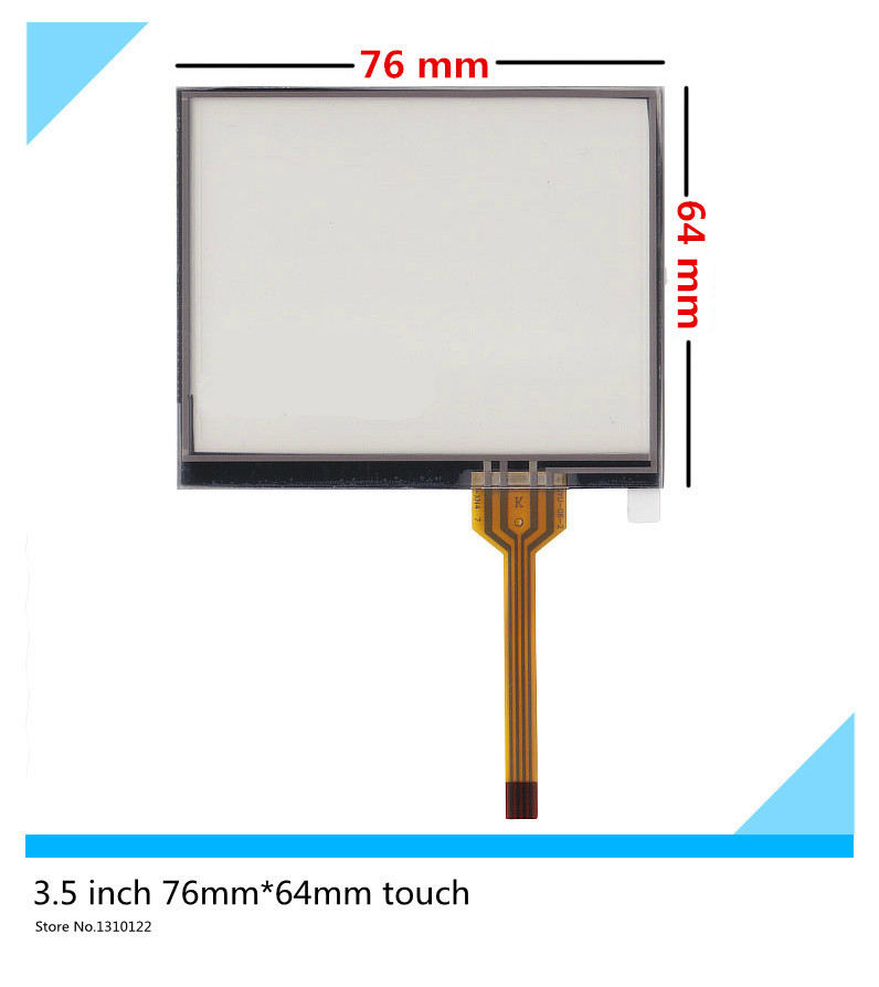 3.5 inch 4 wire 76mm*64mm Resistive Touch Screen Digitizer for GPS navigator MP4 MP5 LCD touch touch panel Glass