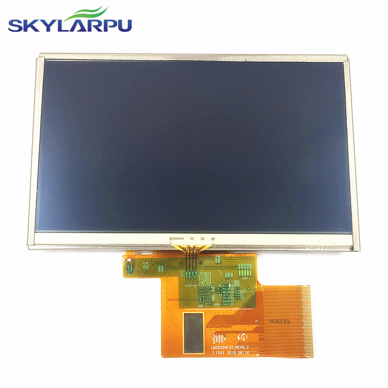 5 inch LMS500HF05-002 For TomTom XXL 530 540 GPS LCD display screen with touch screen digitizer panel free shipping