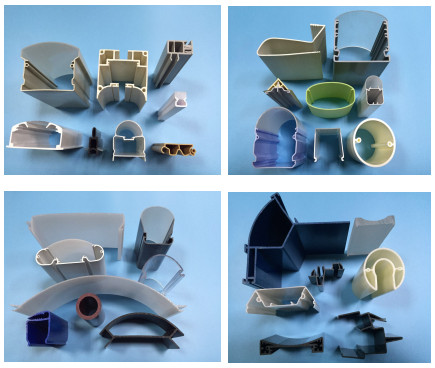 Factory direct multi-functional PC/PMMA plastic extrusion profiles and pipes
