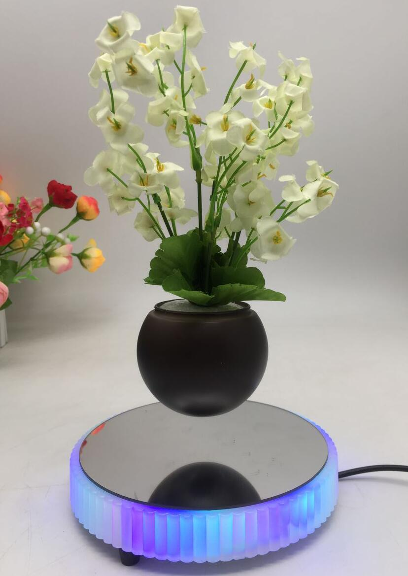 Magnetic floating levitate bottom flowerpot air bonsai