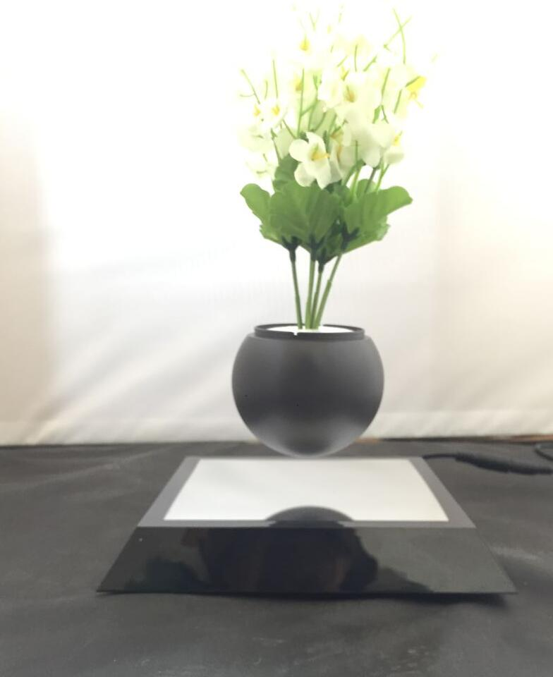 360 rotating magnetic levitate floating bottom air bonsai flowerpotted