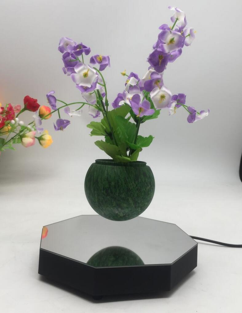 magnetic floating levitate bottom air bonsai tree pots