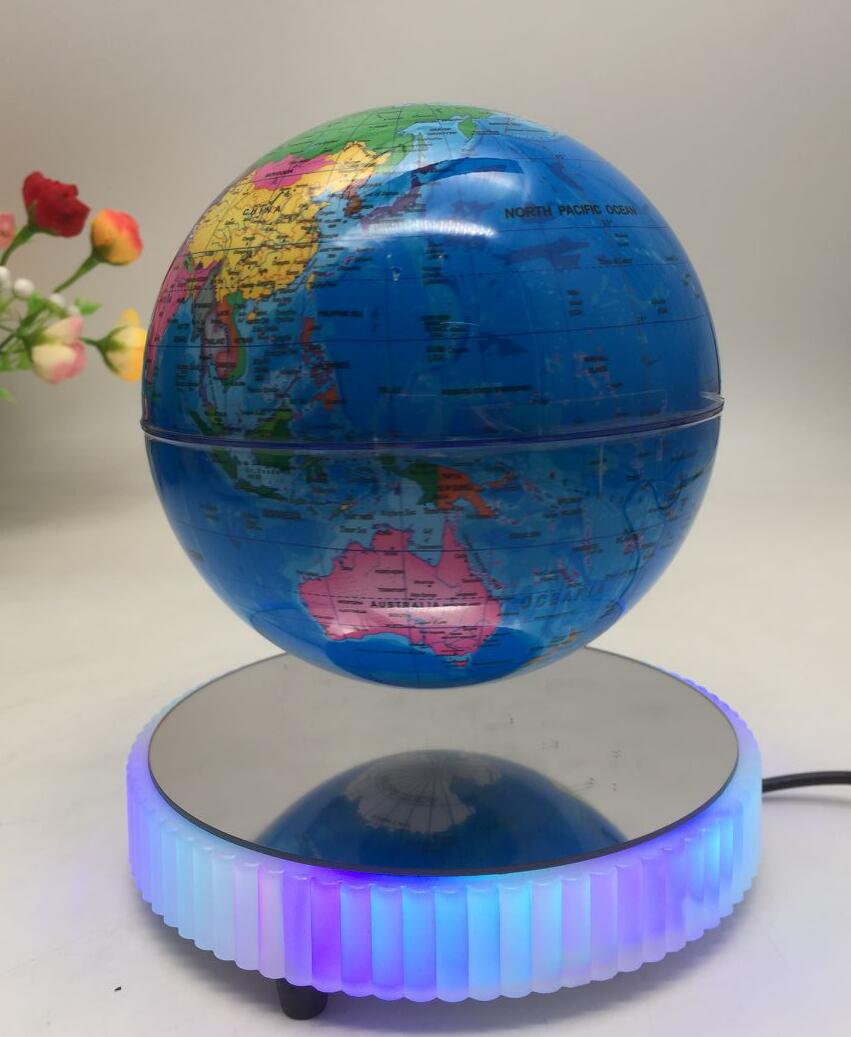 LED light magnetic floating bottom 6 inch globe
