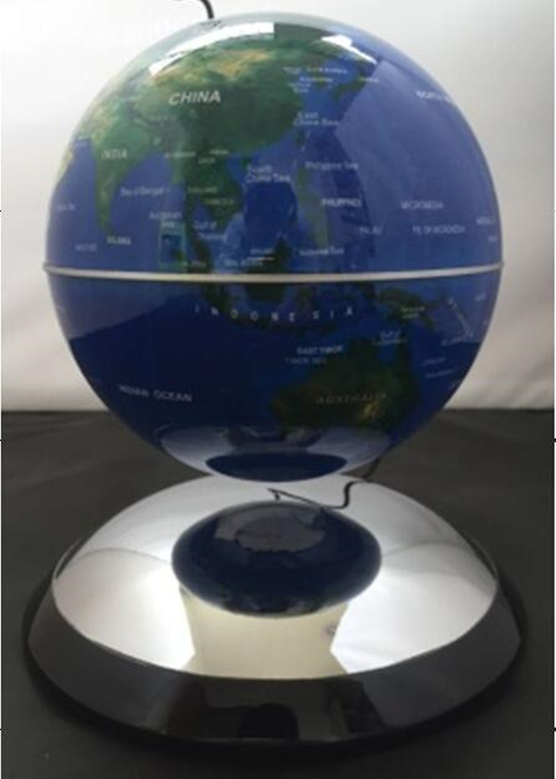 Metal material 6inch maglev levitate floating globe