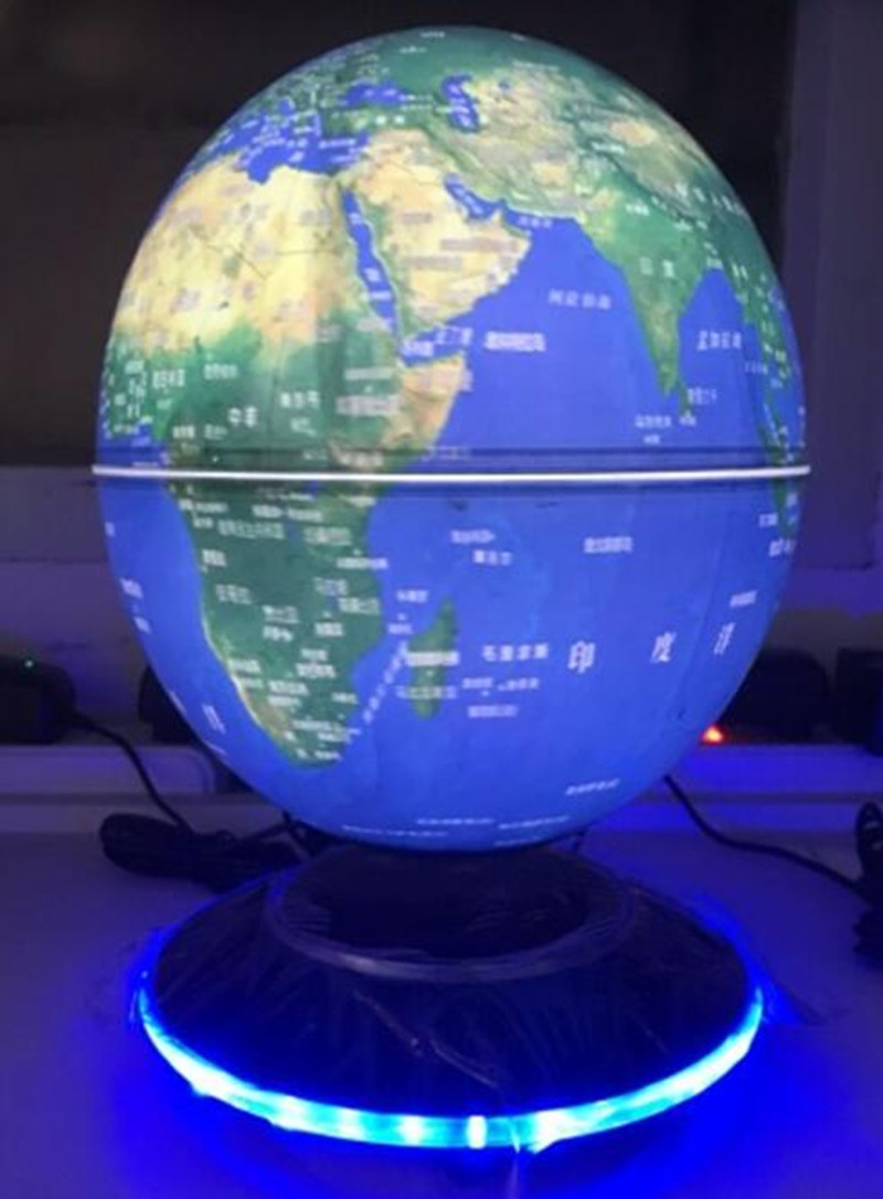 ABS material 6inch magnetic levitation floating globe with lighting