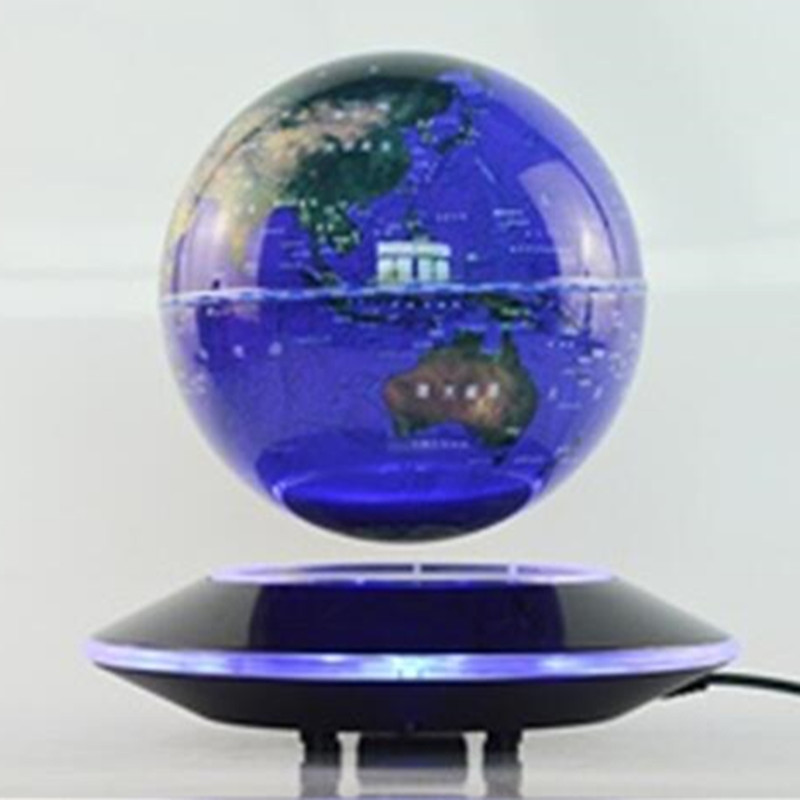 ABS material 6inch maglevlevitation floating globe with lighting