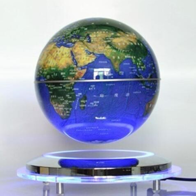 ABS+Acrylic material 6inch floating globe for gift