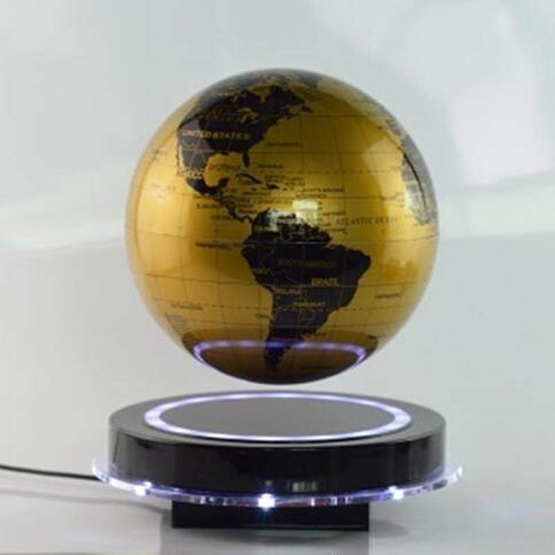 ABS+Acrylic material 6inch lighting magnetic floating globe