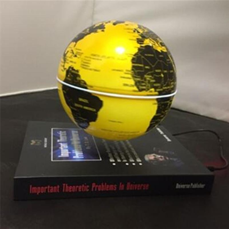 6 inch ABS material book base magnetic floating globe