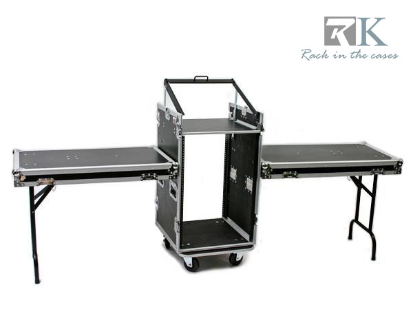 PORTABLE MOBILE DJ FLIGHT CASE WITH TABLE