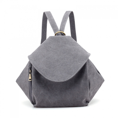 Solid Fashion Canvas Women Backpacks