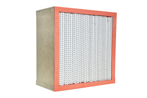 Heat Resistant mini-pleated HEPA air Filter for high temperature clean room