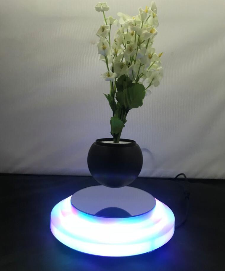 Colorful three-tier round base magnetic levitation floating air bonsai