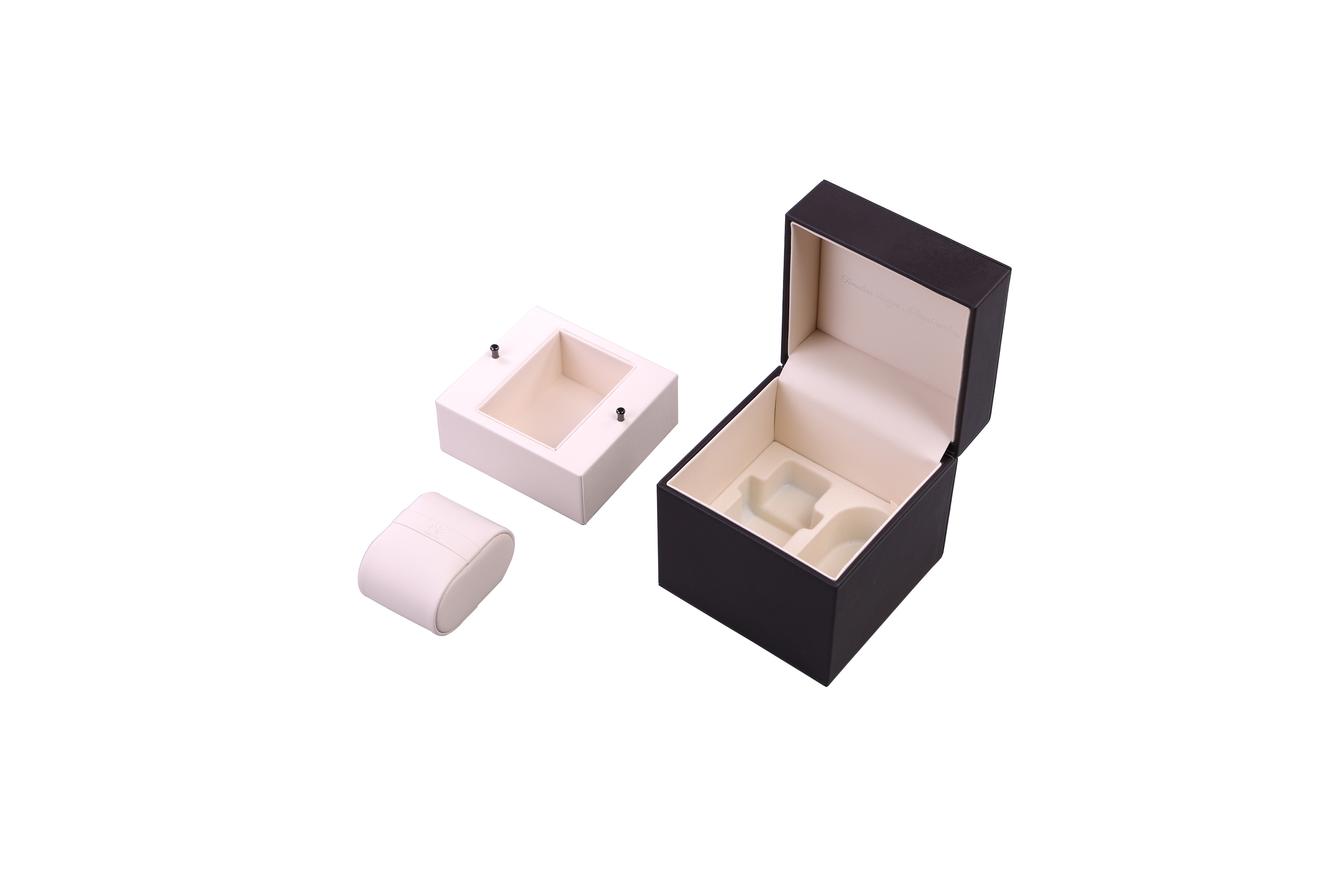 Luxury PU Leather Wrapped Watch Packaging Box