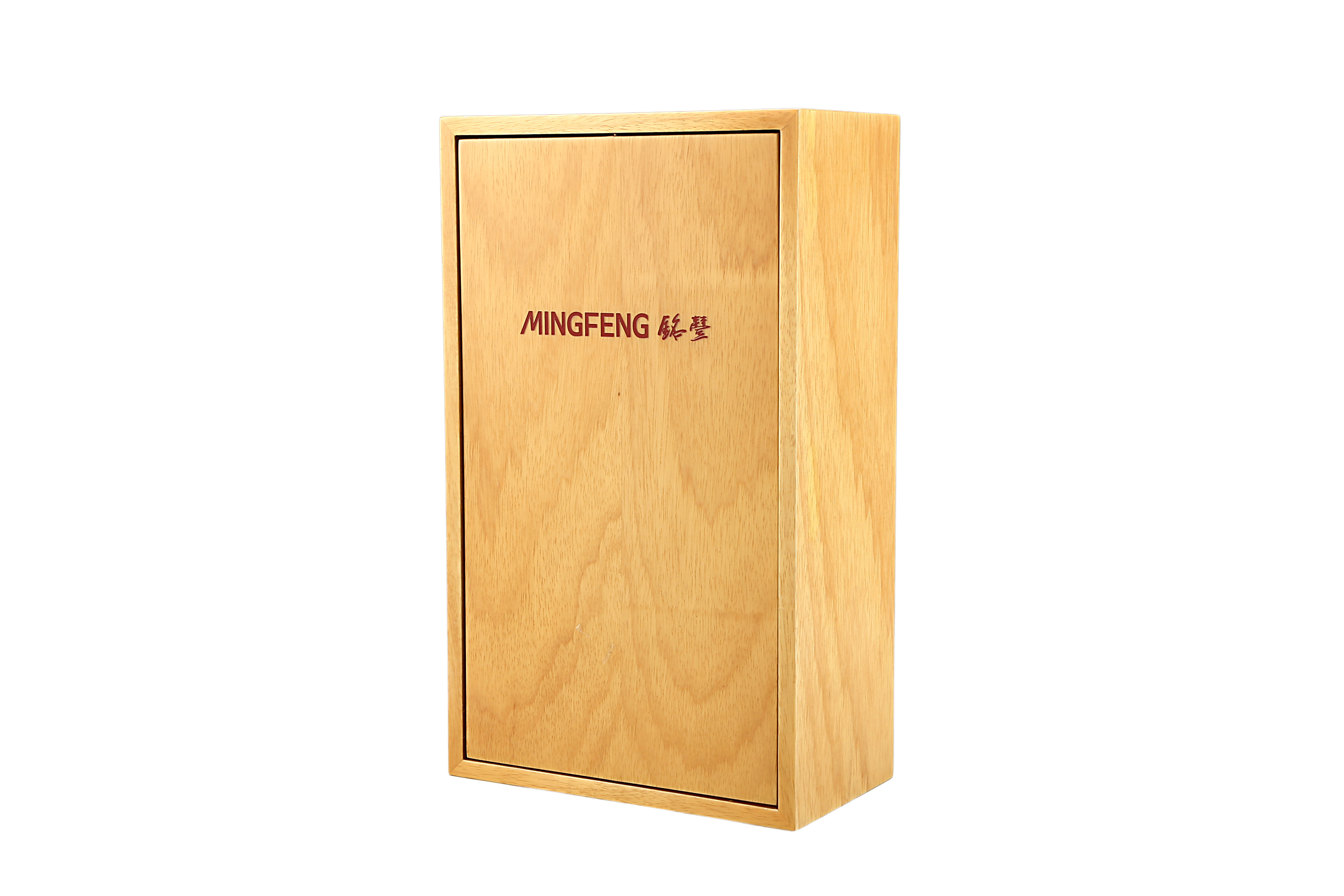 Natural Flat Lacquered Wooden Display Packaging and Wine Box