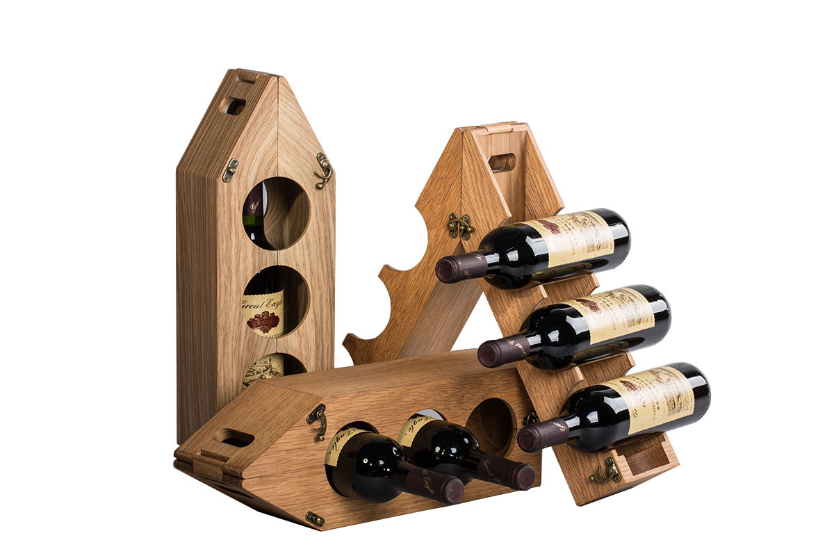 Eco-friendly Bamboo Composite Material Flat Lacquered Wine Display Packaging and Wine Box