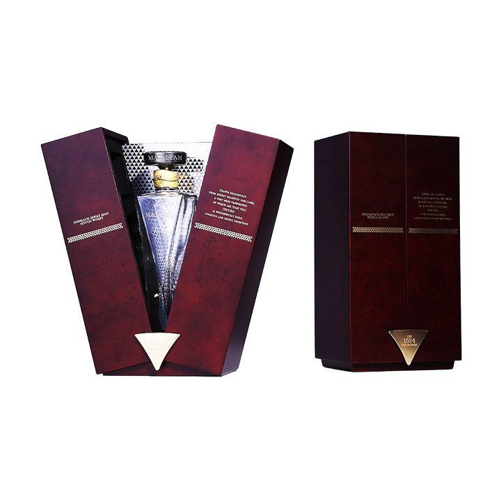 Luxury Mirror Decorated NC Flat Lacquered Wooden Wine Displaying Packaging and Wine Box
