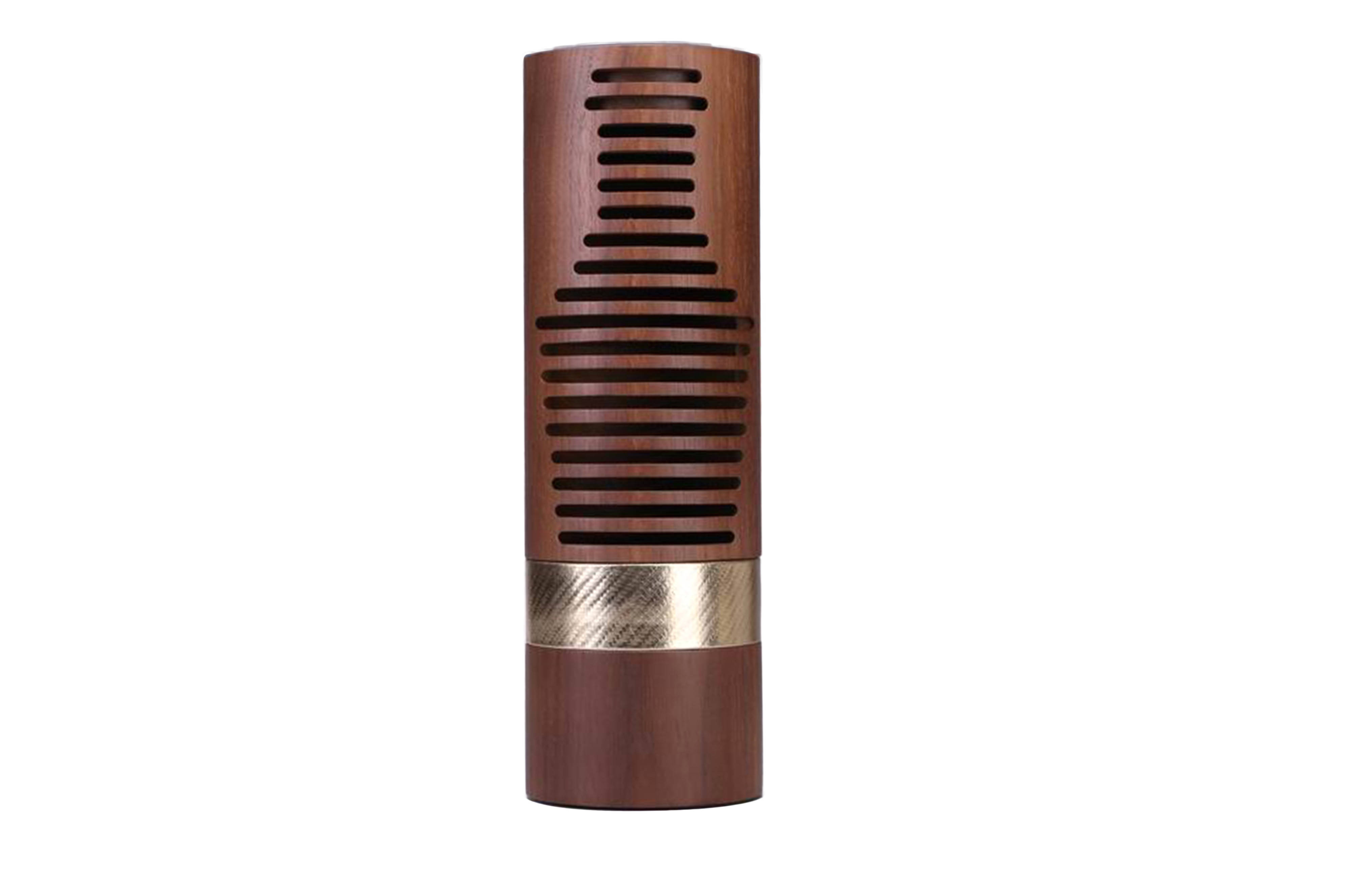 Cylindrical NC Flat Lacquered Black Walnut Solid Wooden Packaging and Wine Gift Box