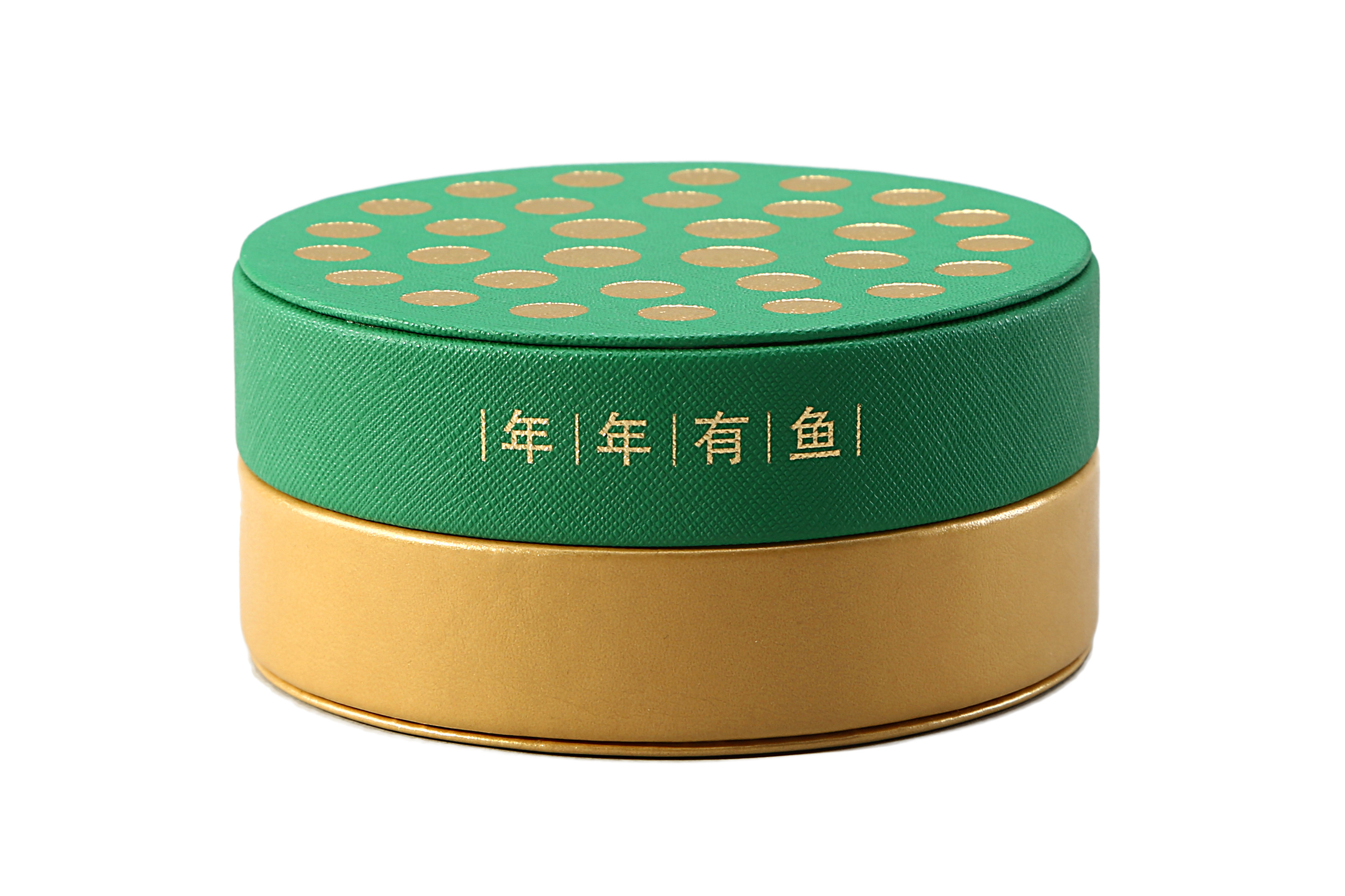 Custom Round Shape PU Leather Coin Gift Box and Commemorative Coin Packaging