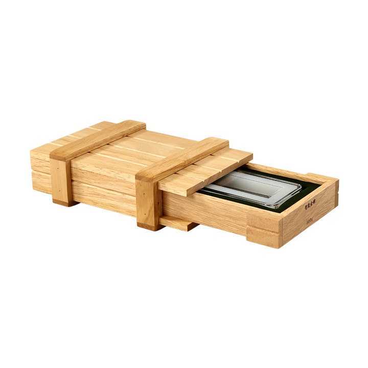 Natural Flat Lacquered Rubber Solid Wooden Collection Coin Gift Box