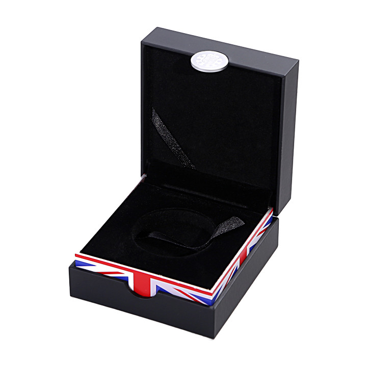 Leatherette Paper Wrapped Precious Coin Gift Packaging and Commemorative Storage Box
