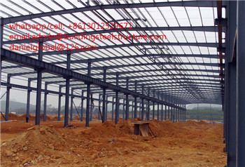 galvanized steel structure workshop in China